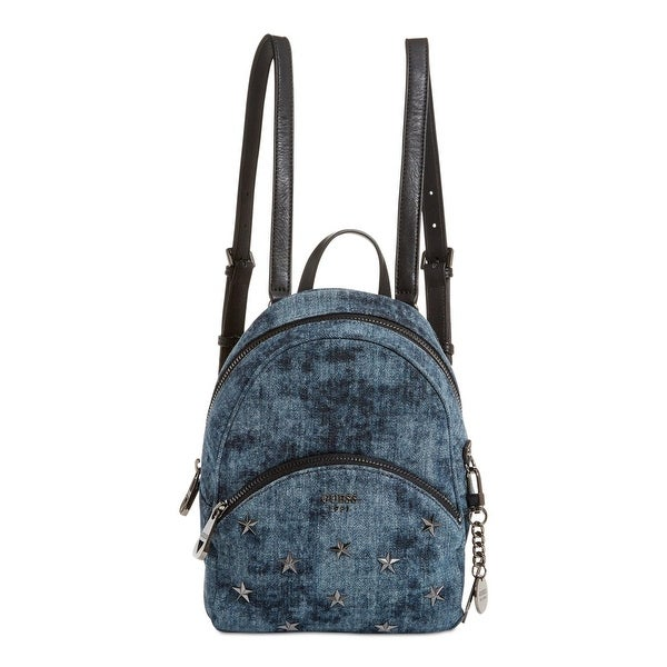 Shop Guess Womens Bradyn Backpack Denim Studded - Free Shipping Today -  Overstock - 22679117 98496d8f16c86