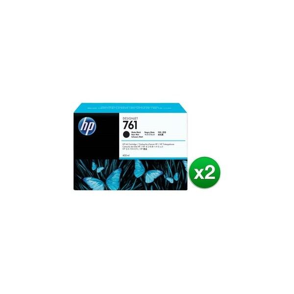 HP 761 400-ml Matte Black DesignJet Ink Cartridge (CM991A)(2-Pack)