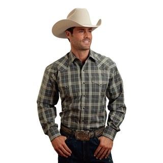 Stetson Western Shirt Mens Long Sleeve Grey 11-001-0478-0115 GY