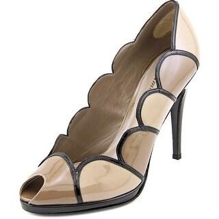 Delman Swoon Women  Peep-Toe Patent Leather  Heels