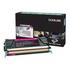 Lexmark C748H4MG Lexmark Toner Cartridge - Magenta - Laser - 10000 Page - 1 Each