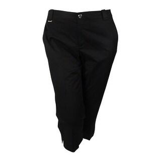 LRL Lauren Active Women's Stretch Twill Crop Pant - Black