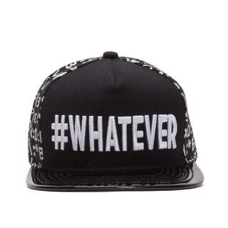 #WHATEVER Emoticon Polished Bill Snapback