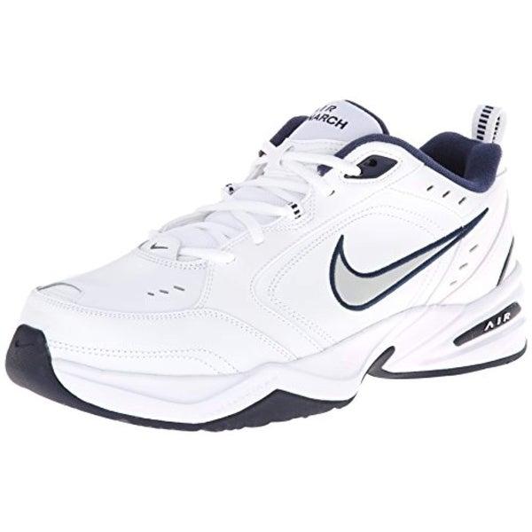 classic shoes buy sale discount Nike Air Monarch 4 Medium Width Mens (13) White/Metallic Silver