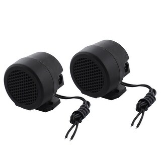 Unique Bargains 2x 41mm 500W Black Loud Dome Component Audio Tweeters Speakers Horn Auto Van Car