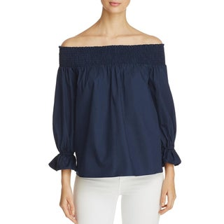 Soloiste Womens Blouse Smocked Tie Back (4 options available)