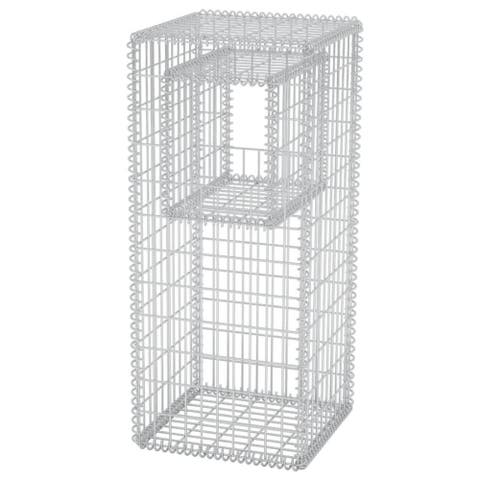 "vidaXL Gabion Basket Post/Planter Steel 19.7""x19.7""x47.2"""