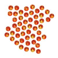 Swarovski Elements Crystal, Round Flatback Rhinestone SS16 3.8mm, 50 Pieces, Fire Opal