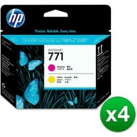 HP 771 Original Printhead Magenta & Yellow (CE018A)(4-Pack)