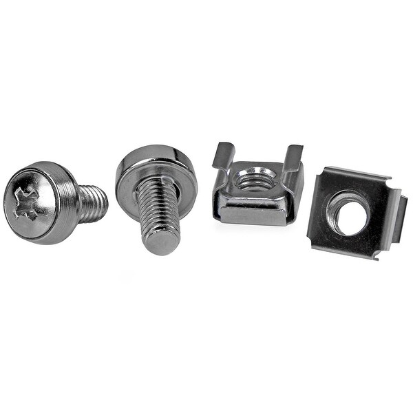 Startech M6 Mounting Screws And Cage Nuts For Server Rack Cabinet, 50Pk