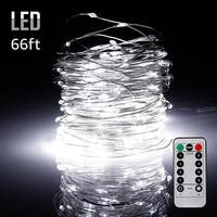 66ft 200LEDs Fairy String Lights Dimmable with Remote Control Daylight