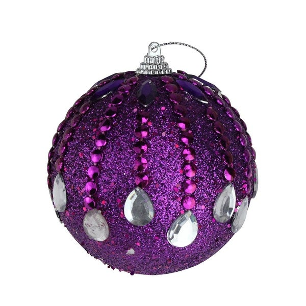 "Pack of 6 December Diamonds Magenta Shatterproof Ball Ornaments 3.75"" - PURPLE"