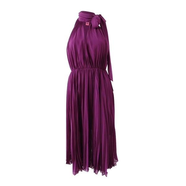 399af0758dd2 Shop Betsey Johnson Women's Pleated Chiffon Halter Dress - Purple - Free  Shipping Today - Overstock - 23506678