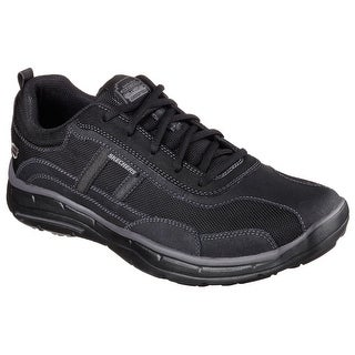 Skechers 64638 BBK Men's GLIDES - ELLISON Oxford