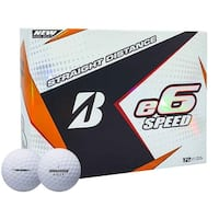 Bridgestone 2017 E6 Speed Golf Balls - Dozen White