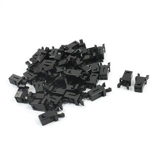 Unique Bargains Replacement Panel Mount Black Plastic RC Toy Plane Door Lock Switch 40 Pcs