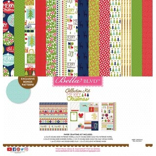 """Bella Blvd Collection Kit 12""""X12""""-Merry Christmas"""