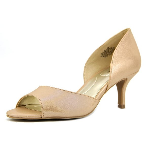 Bandolino Nubilla Women Open-Toe Synthetic Nude Heels