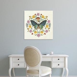 Easy Art Prints Wild Apple Portfolio's 'Butterfly Mandala IV' Premium Canvas Art
