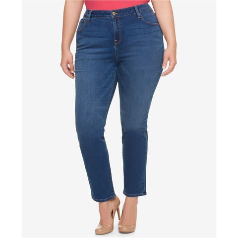 Tommy Hilfiger Womens Greenwhich Straight Leg Jeans - 22W Regular
