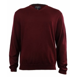 Men's Merino Wool Blend V-Neck Sweater