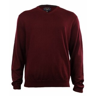 Men's Merino Wool Blend V-Neck Sweater (More options available)