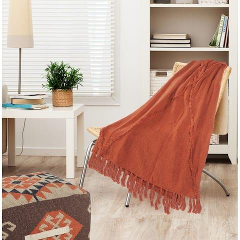 Bohemian Basics Decorative Diamond Tufted Cotton Throw Blanket