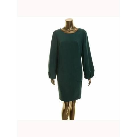 TRINA TURK Green Long Sleeve Above The Knee Dress 10