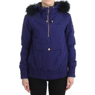 GF Ferre GF Ferre Blue Padded Jacket Hooded Short K-Way