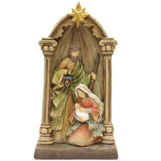 "Puleo 173-4083X Christmas Holy Family Nativity Set, Resin, Multicolored, 14"" - Multi-color"