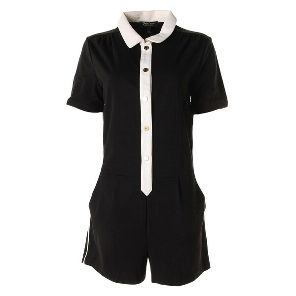 782349db52fc6 Shop Juicy Couture Black Label Womens Mod Romper Pleated Ponte - 8 ...