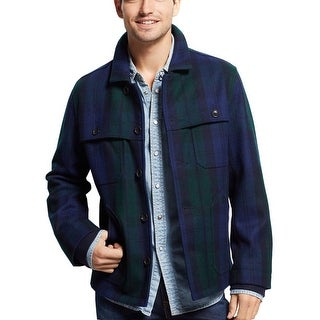 Tommy Hilfiger Hannaford Plain Jacket X-Large XL Navy and Green Plaid