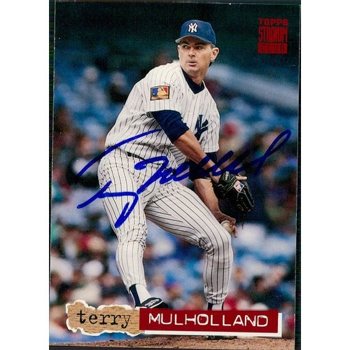 Signed Mulholland Terry New York Yankees 1994 Topps Baseball Card Autographed
