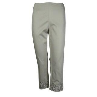 Charter Club Women's Classic Fit Capri Pants - berry cool - 6