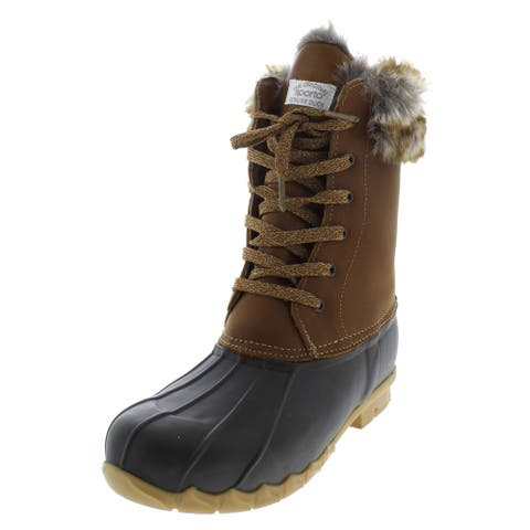 Sporto Womens Agnes Pac Boots Leather Waterproof
