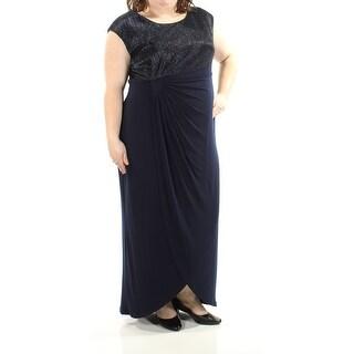 CONNECTED $99 Womens New 1399 Navy Metallic Sleeveless Dress 20W Plus B+B
