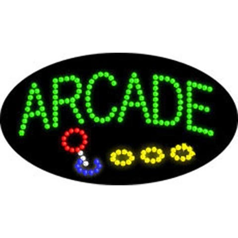 2xhome Arcade Open Multi-Color LED Sign with Animation Effects & Motion Flashing Capabilities