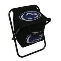 Penn State University Nittany Lions Logo Portable Folding Cooler Seat - Black