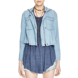 Free People Womens Jacket Denim Long Sleeves