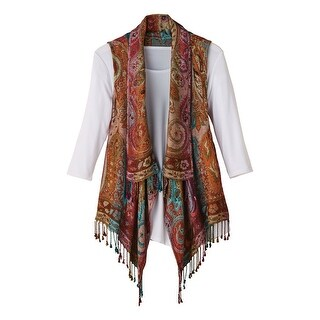 Women's Lisbon Reversible Fringed Vest (5 options available)
