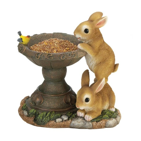 Popular Playful Bunnies Bird Feeder