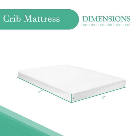 ONETAN - Standard Foam Watrerproof Vinyl Coating Crib Mattress With White Microfiber Woven Fabric.