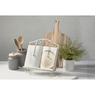 Link to White Metal Cookbook / Recipe Stand Similar Items in Kitchen Storage