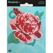 Cross & Rose - Wrights Iron-On Applique