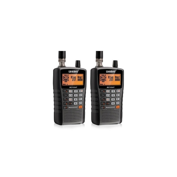 Uniden Bearcat BC125AT Handheld Scanner(2-Pack) with BNC Connector Antenna