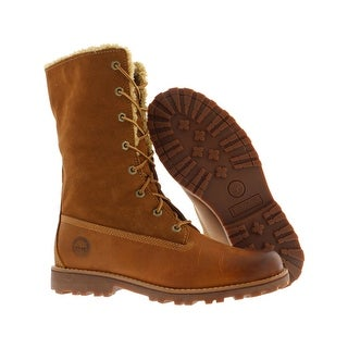 Timberland 6 Inch Fold-Down Shearling Boots Kid's Shoes Size - 7 m us big kid