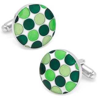 Green Polka Dot Cufflinks