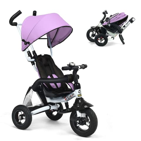 6-In-1 Kids Baby Stroller Tricycle Detachable Learning Toy Bike-Pink - Pink