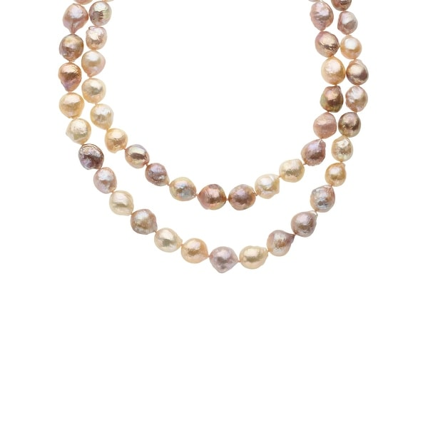 Honora 36-Inch Multi-Color 12-13mm Freshwater Pearl Strand with Sterling Silver Clasp