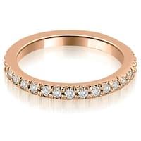 0.65 cttw. 14K Rose Gold Round Diamond Eternity Ring